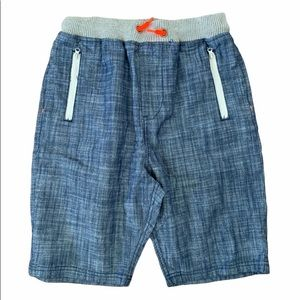 Ocean Current Blue Cotton Pull On Shorts